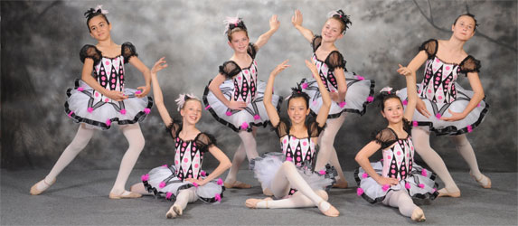 Ballet students at Bravo! The Centre for Dance in Richmond Hill