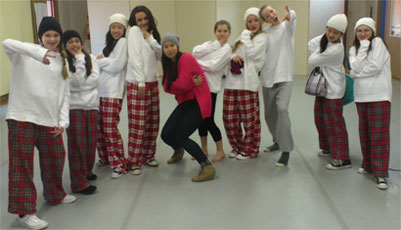 hip hop students and their instructor at Richmond Hill dance school Bravo! The Centre for Dance