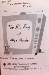 program cover of The Big Bug of Miss Media, year end recital
