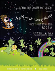 program cover of A Gift for the Nurse of the Sky, 2010 year end recital at the Richmond Hill Centre for the Performing Arts
