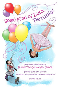 program cover of Some Kind of Luck Petunia, 2011 year end recital at the Richmond Hill Centre for the Performing Arts