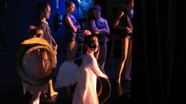 dancers backstage at the Richmond Hill Centre for the Performing Arts